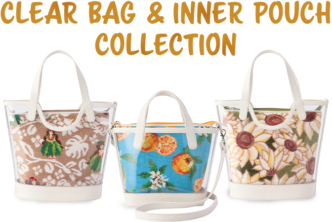 CLEAR BAG & INNER POUCH COLLECTION