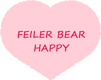 FEILER BEAR HAPPY